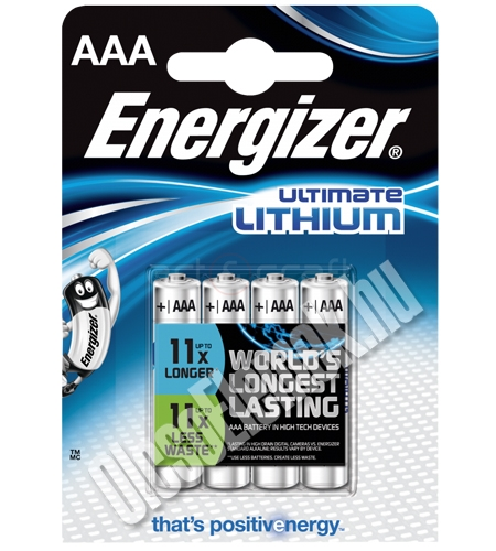ENERGIZER ULTIMATE LITHIUM MIKRÓ ELEM AAA/BL4  - 4db/Zsugor